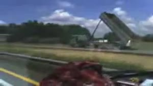 Truck vs bridge = EPIC FAIL