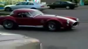 Dumb Woman Crashes Shelby Cobra