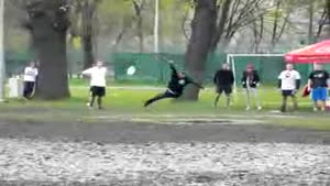 Frisbee catch FAIL
