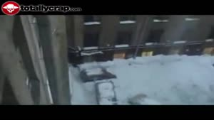 Russian moron smashes cars