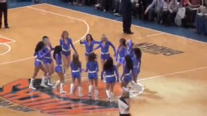 New York Knicks cheerleader fail