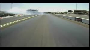 Dragster race rear view video