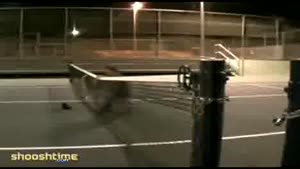 Tennis court jump fail