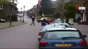 Insane car stunt in Holland