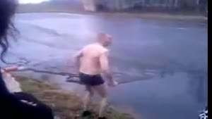 Ice Diving Fail