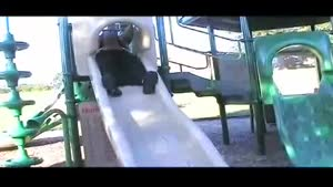Mr Pregnant Goes Down The Slide Part 1