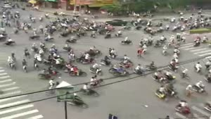 Crazy traffic in Vietnam