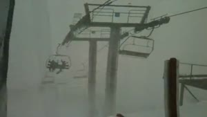 110mph Winds on Ski Lift