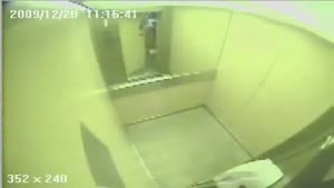 Father & Daughter escape from elevator