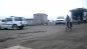 Chick Gets Epically Owned On A Bike Ramp