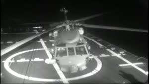 Helicopter Rollover at Sea