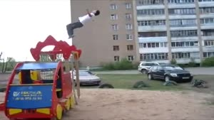 Double Back Flip Crash