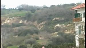 Landslide in Southern Italy
