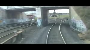 Idiot Falls Over In Front Of Train