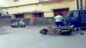 Dumb Scooter Fail