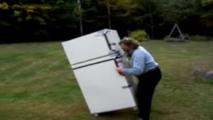 Old Guy Lifts Fridge