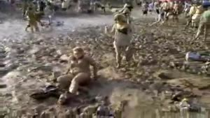 Drunk Fat Girl Fights The Mud