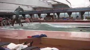 Cruise Ship Pool During Storm