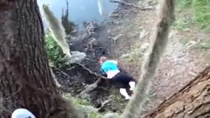 Fat Girl Falls Out Of Tree
