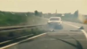 Rolls Royce Phantom Crashes On Highway