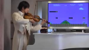Violinist Plays Mario In Real-time