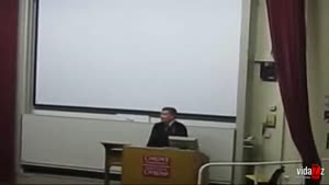 Idiot Disturbs College Lecture