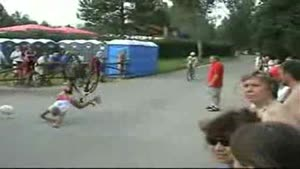Biker Falls On His Face