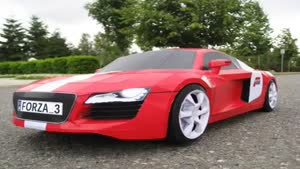Audi R8 made from paper
