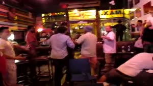 trendy NY bar fight