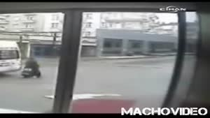 Van Backs Over Woman