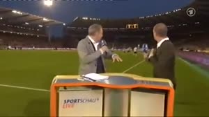 Tv Presenter Scared Of Invisible Ball