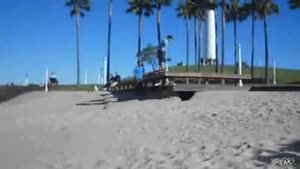 Beach Parkour Fail And Faceplant