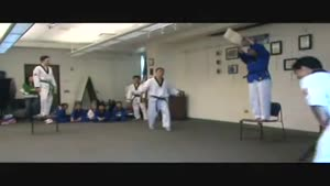 Tae Kwon Do Master Backflip Fail