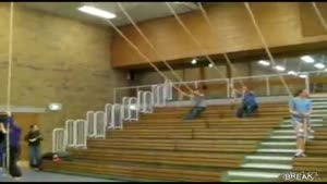 Gym Class Rope Swing Fail