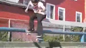 Boomerang Skateboard Hits Kid In Head