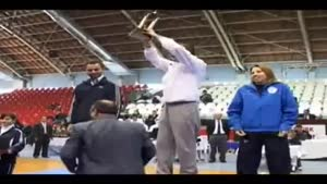 A Gymnastic Coach Throws His Team The 1st Place Trophy And it Knocks Out One of The Girls