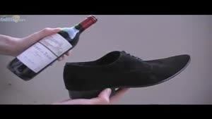 How to open a bottle of wine with a shoe