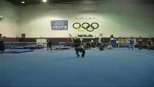 Male Gymnast Faceplants