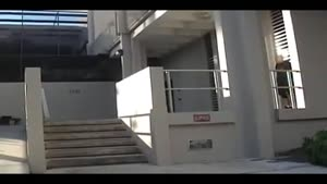 Parkour Kid Gets Railed