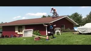 Bike Off Roof Catapult Nutshot
