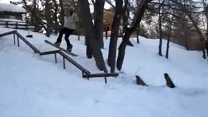 Snowboarding Faceplant