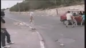Rock Throwing Kid Hit By Car