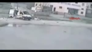 Ambulance Loses It's Patients During Hard Crash