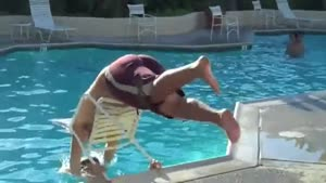 Pool Dive Epic Fail