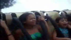 Girl Throws Up During Amusement Park Ride