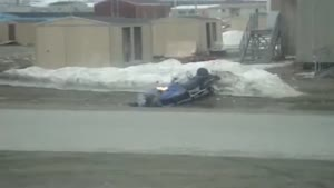 Snowmobile Dry Land Faceplant