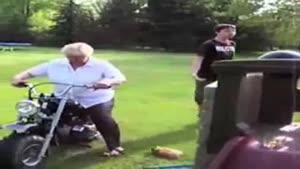 Grandma Motorcycle Fail