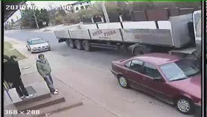 Man Walks Into Path Of Oncoming Truck