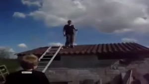 Fat Kid Falls Through Roof