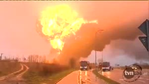 Trains Collide in Poland Causing Huge Explosion